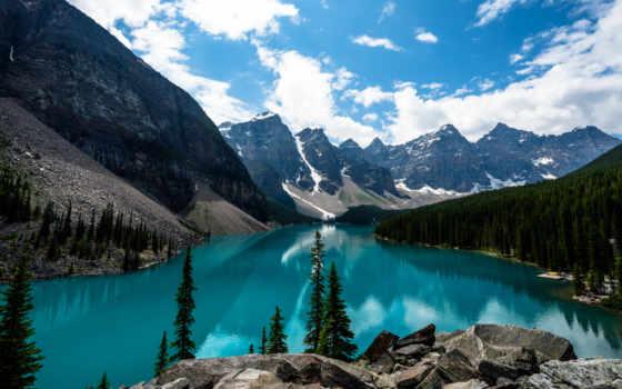 озеро, moraine, канада, природа, канадский, яndex,