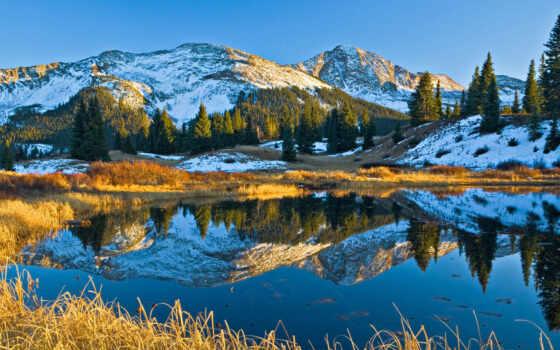 природа, scenery, landscape, scenic, гора, дерево, небо, stay, цветы, розовый, scene