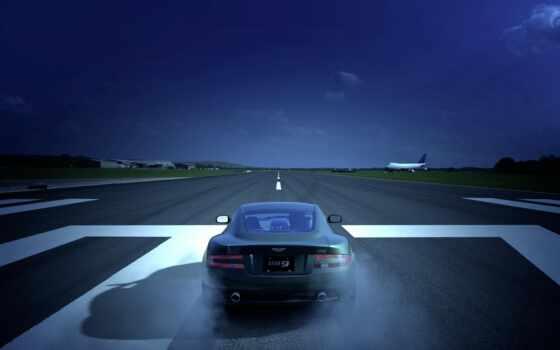 martin, aston, takeoff, band, plane
