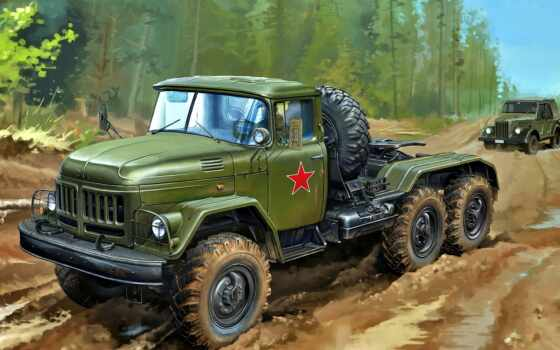 модель, зил, сборная, car, cb, soviet, bronco, russian, truck