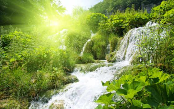 nature, водопад