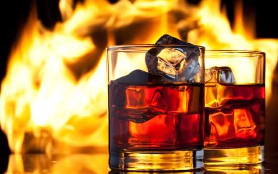 алкоголь, виски, лед