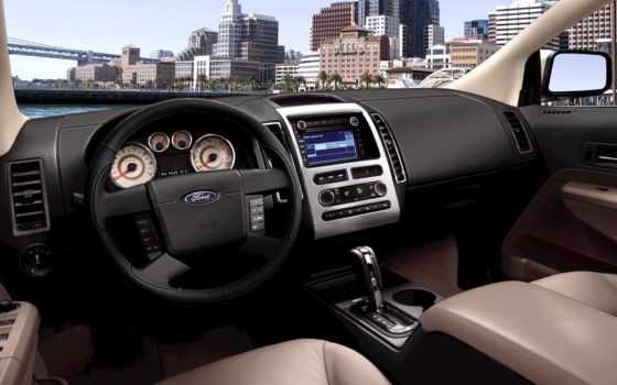 ford, edge, интерьер