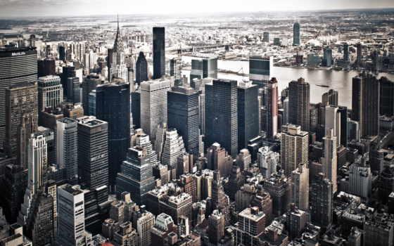 new, york, город, нью, небоскребы, здания, мегаполис, улица, usa,
