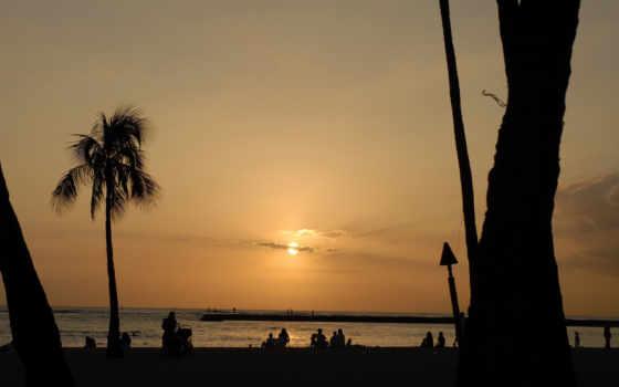 praia, noite, imagens, fotos, мар, costa, pessoas, vetor, parede, papéis, declínio,