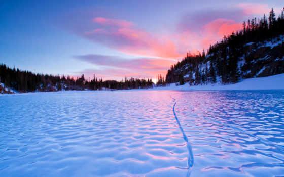 frozen, озеро, закат, природа, pinterest, lakes,