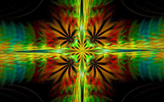 узор, симметрия, цвет, свет, качественные, абстракция,