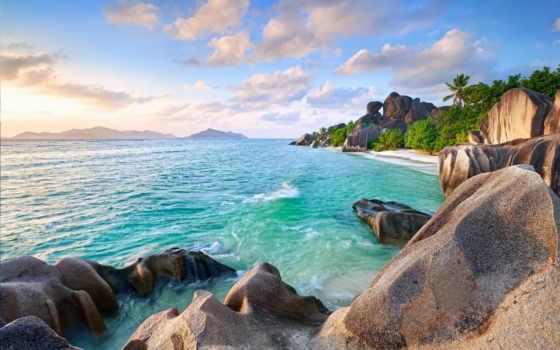 природа, остров, небо