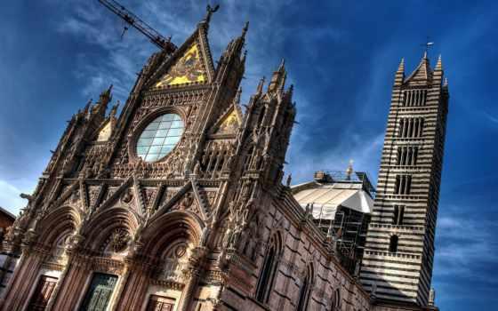 duomo, cathedral, сиена, ди, италии, нов, оригинал, one, городе,