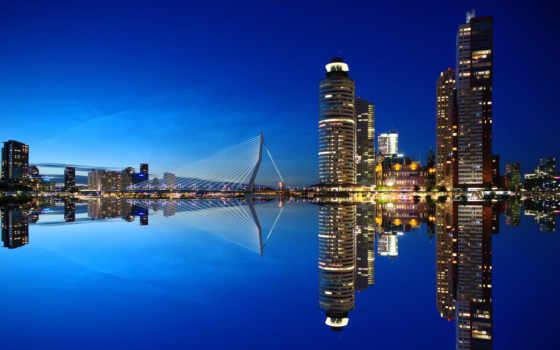 роттердам, нидерланды, skyline, desktop, nightscape, resolutions,