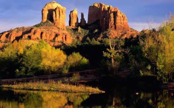 rock, cathedral, сша, arizona, кашел, гранд, отъезд,