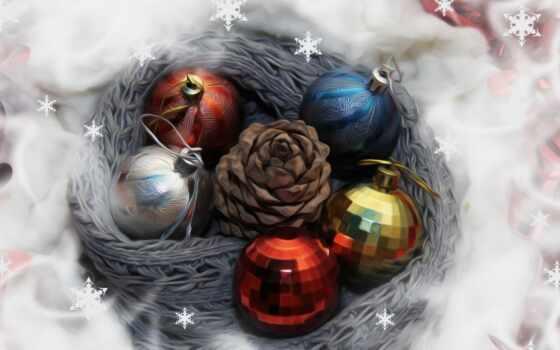 разное, снежинки, год, игрушки, шары, картинка, new, торрент,