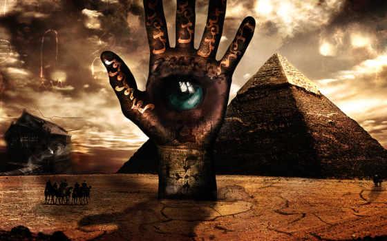 рука, глаз