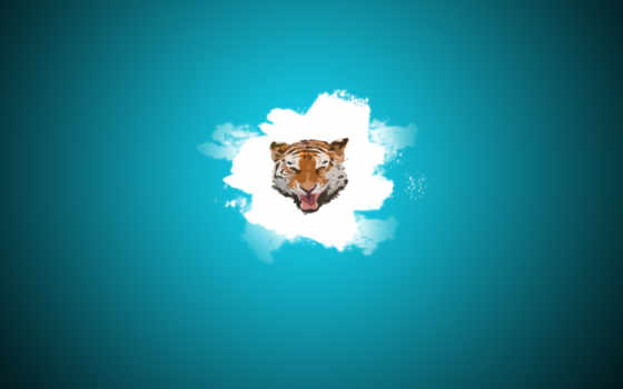 клякса, голова, тигр,