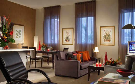 гостиная, dizain, гостиной, interer, уютная, комната, свой, совершенно,