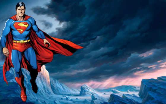 superman, супергерой, масть, плащ, рисунок, символ,