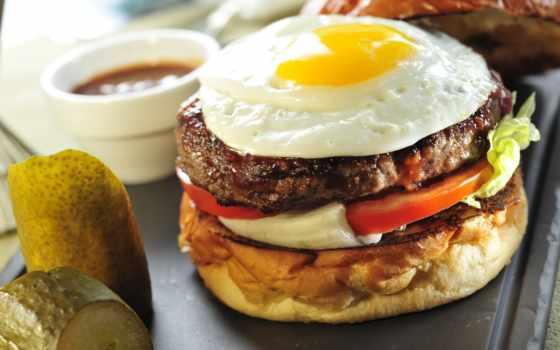 гамбургер, еда, fast