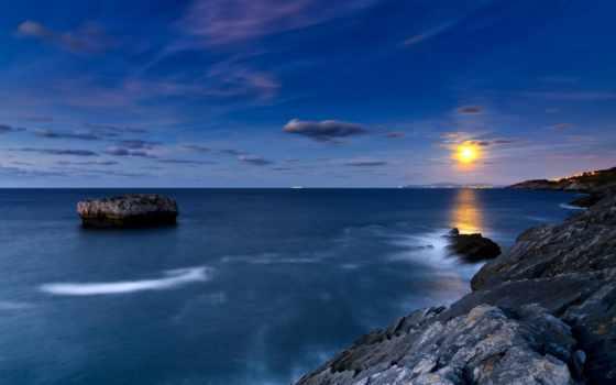 abyss, ocean, закат