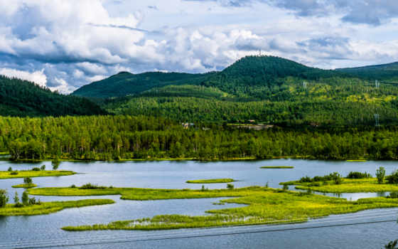 bardufoss, krajobrazy, rio, floresta, norte, река, лес, tapeta, montanhas, northern,