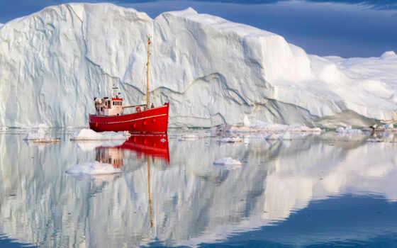 arctic, denmark, тематика, отражение, гренландия, church, лоли, iceberg, smartphone, октябрь, лодка