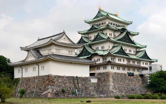 замок, япония