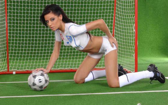 футболистки, девушки,