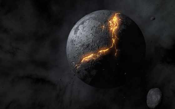 planet, космос, черная