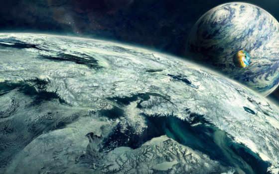 cosmos, art, планеты
