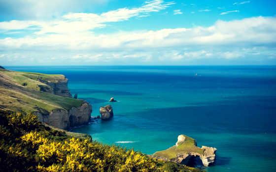 море, природа, остров