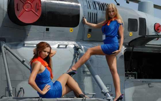вертолеты, заставки, авиация, devushki, girls, боевая, por,
