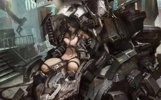 металл, робот