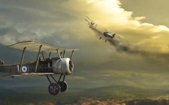самолёт, биплан