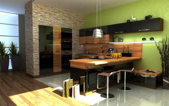кухни, design, дизайна