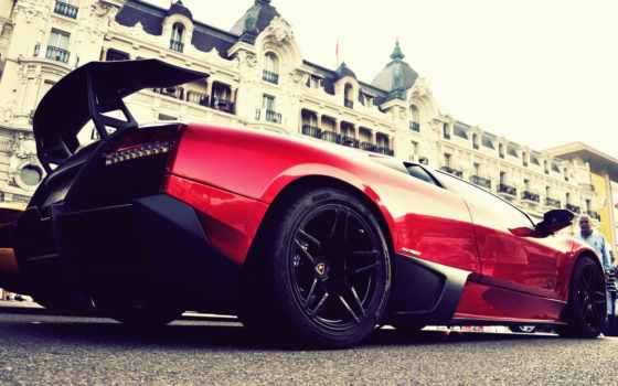 lamborghini, cars, red