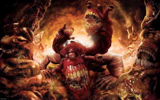 ад, игры, dantes, inferno, качественные, monster,