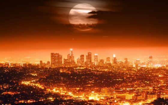 los, анджелес, луна