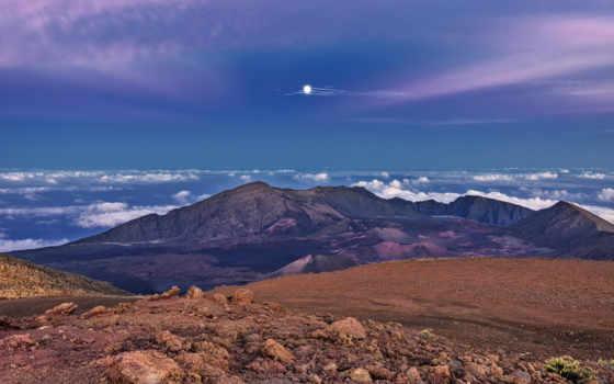 панорама, небо, luna