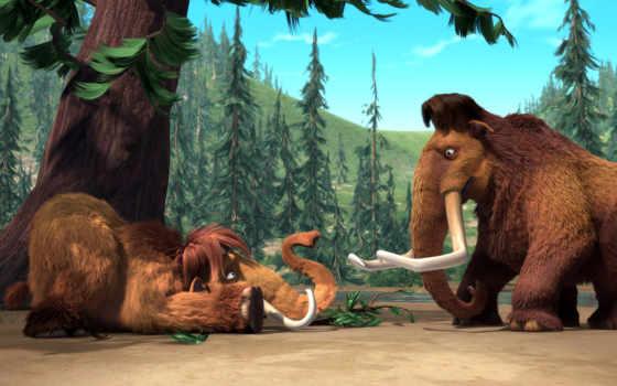 период, glacial, mammoth