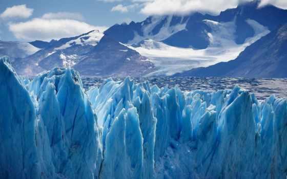 снег, горы, winter, вершины, небо, иней,