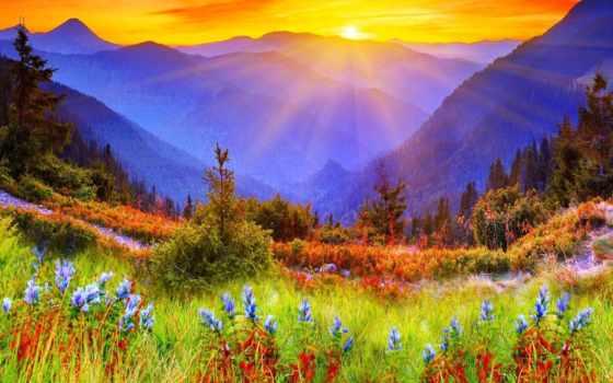 гора, gallery, восход, mountains,