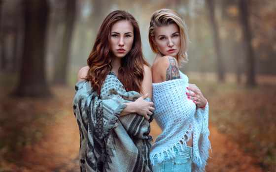 devushki, девушка, girls, две, осень, сегодня, sendza, sisters,
