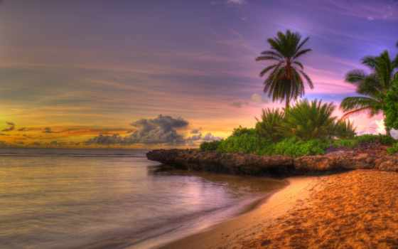 rising, солнца, море, природа, небо, пляж, landscape, закат, oblaka,