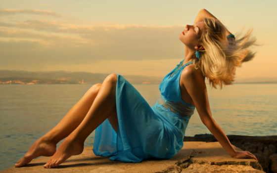 blonde, платье, море, ноги, девушка, модель, синем, schultz, andreia,