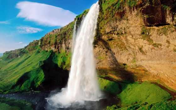 природа, водопад, sound, слушать, noise, красивый, water, telephone