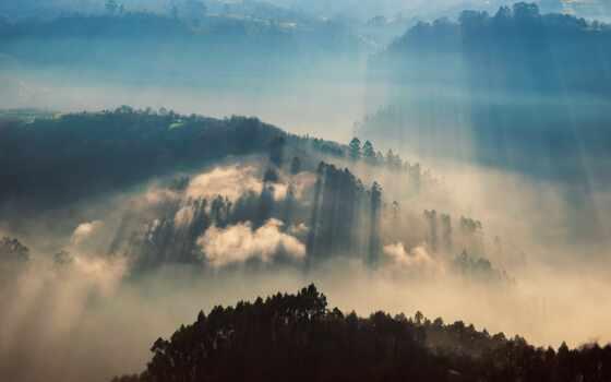 утро, лучи, британская долина