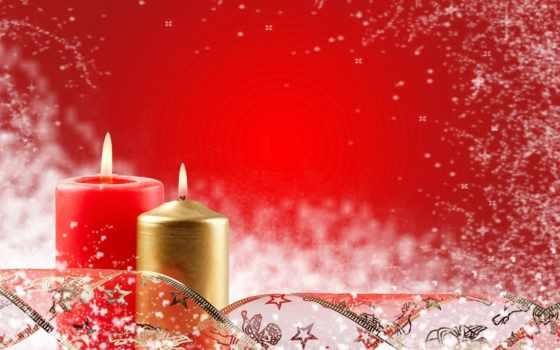 christmas, candles