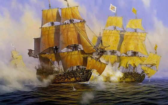 корабли, парусные, яхты