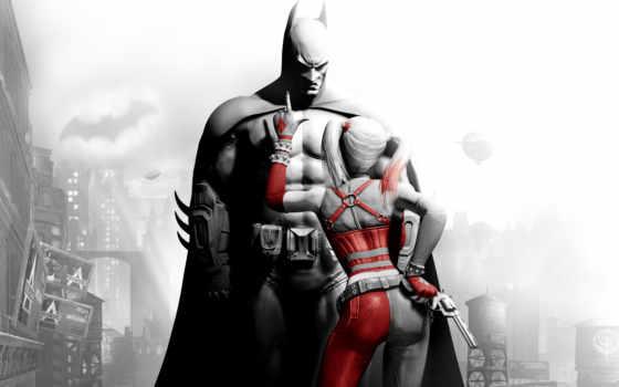 куин, харли, batman, игры, супергерой,