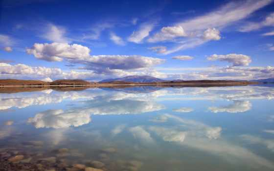 heaven, oblaka, небо, горы, зеркало, озеро, отражение, коллекция, telescope, занимательных,