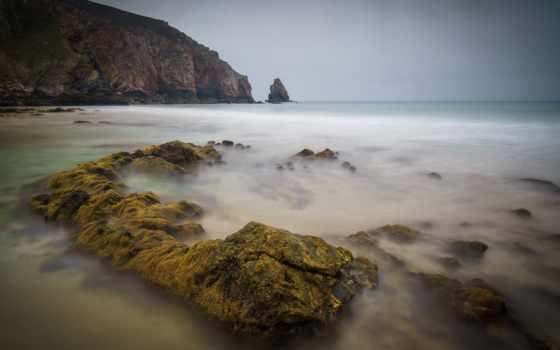 , вода, камни, море, гора,